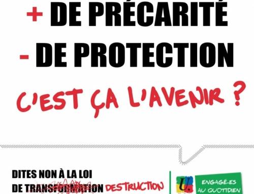 Mercredi 18 novembre 2020 : journée nationale de lutte contre la précarité dans la Fonction publique