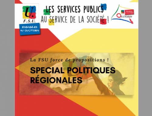 La FSU Occitanie s'adresse aux élus et groupes politiques